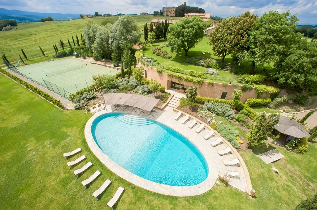 Pool at Borgo Finocchieto Villa Tuscany