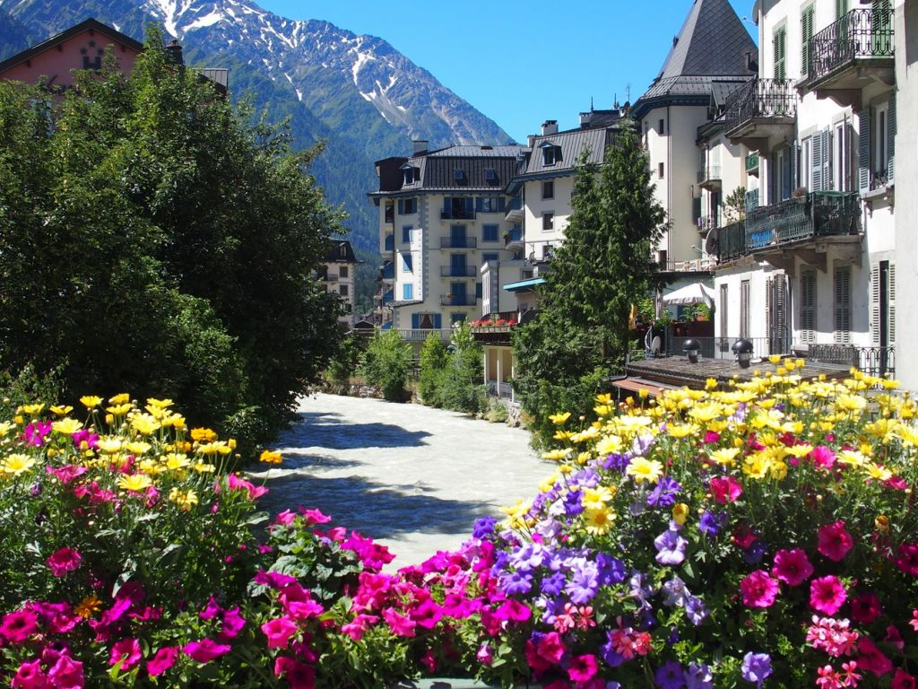 The beautiful village of Chamonix