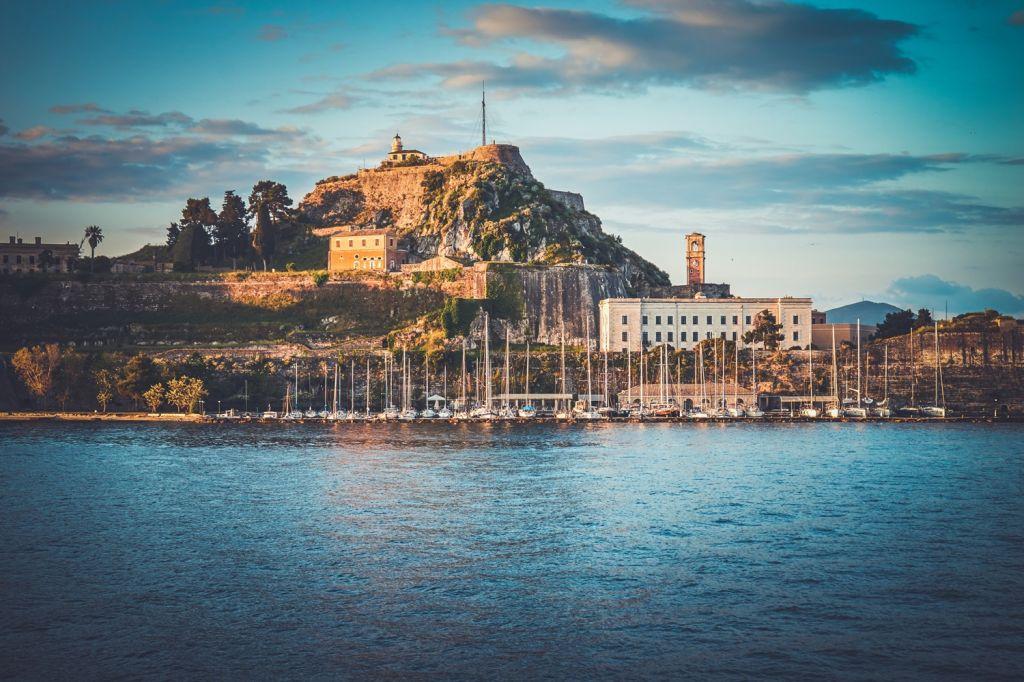 The history corfu Corfu