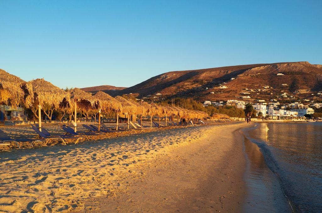 golden beach Paros Island