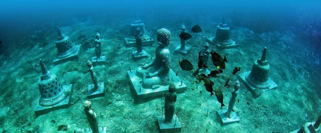 Underwater Buddha and Stupas Bali