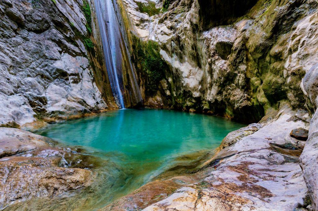 Visit the Dimosari Waterfalls Lefkada