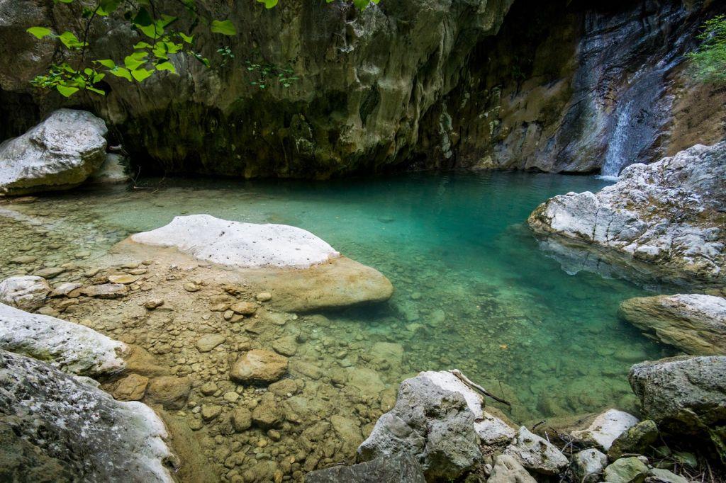 Dimosari Waterfalls Lefkada
