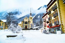 A ski vacation travel to Mont Blanc