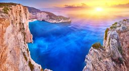 Navagio beach in Zante