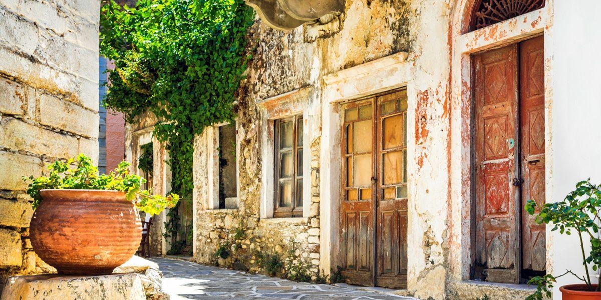 The mountainous villages of Naxos