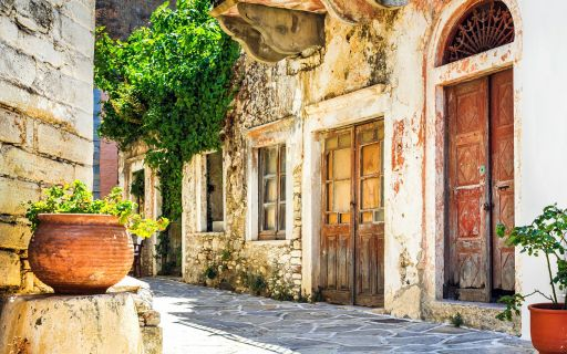 The mountainous villages of Naxos