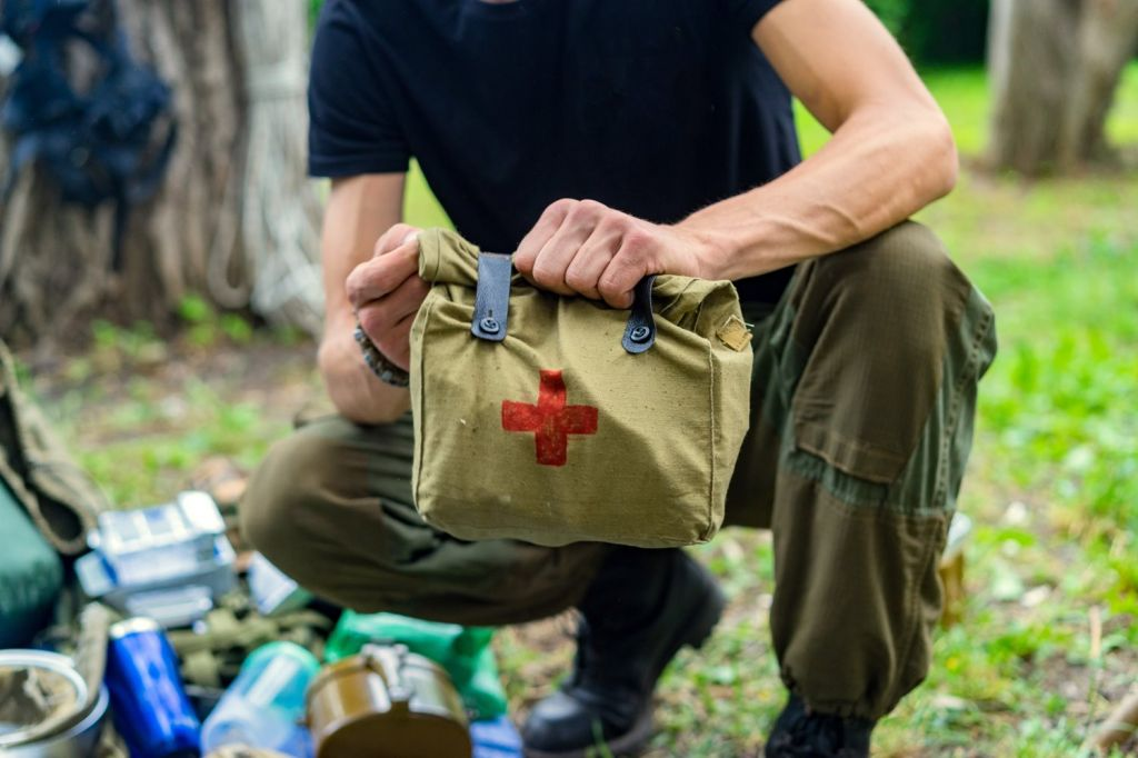 Don't forget the first aid kit