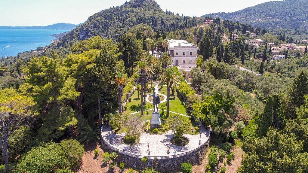 Corfu Old Town and Achilleion Palace Open-Top Bus Tour