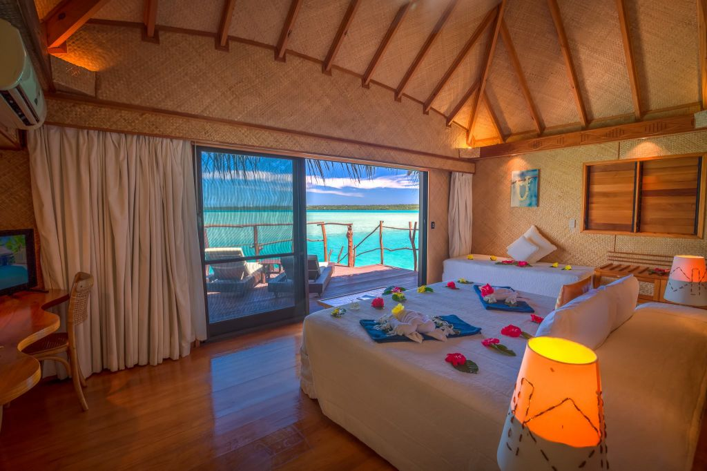Overwater Bungalow at Aitutaki Lagoon Private Island Resort
