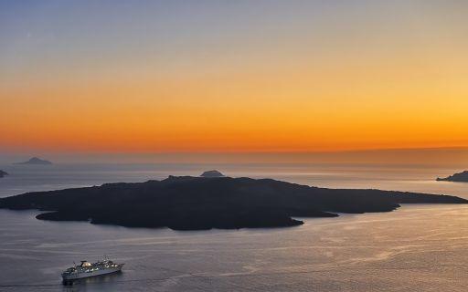 explore Santorini's volcano