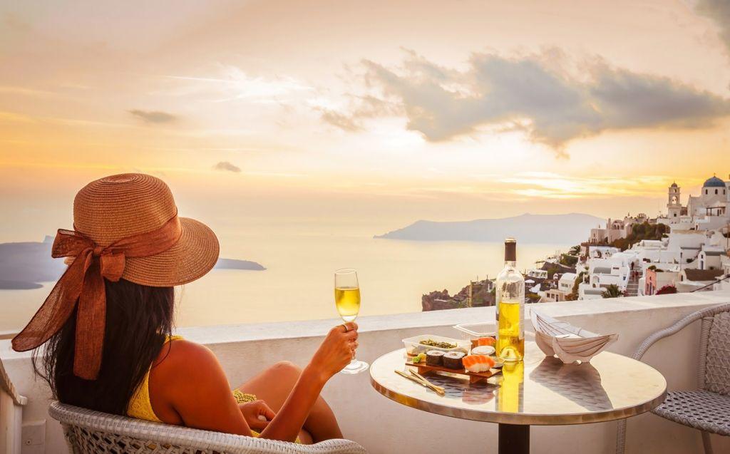 wine Santorini