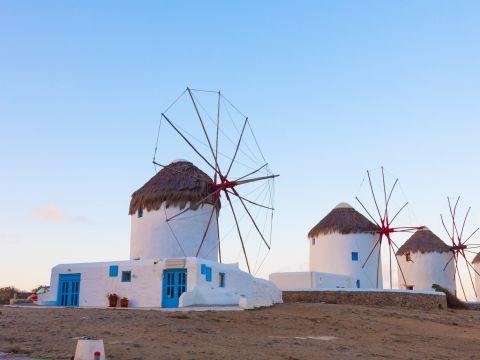 Landscape of Mykonos