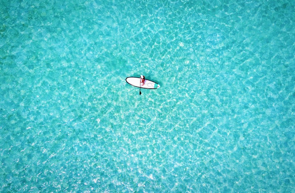 paddle boarding Maldives