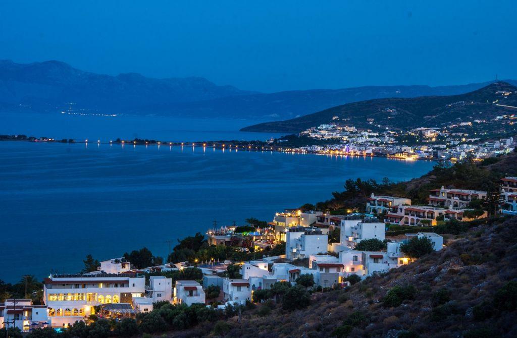 elounda night Crete