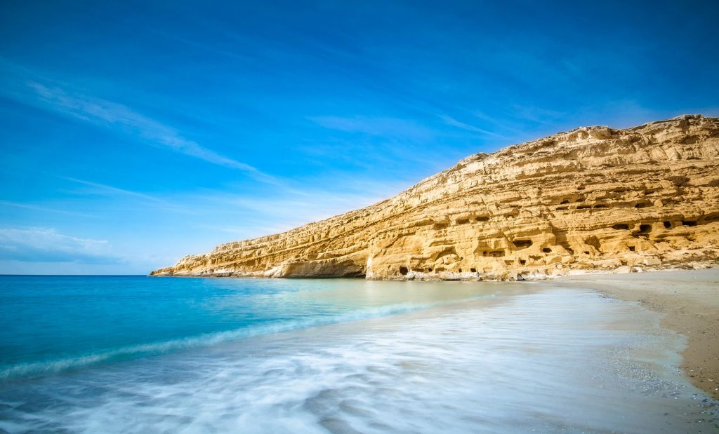 Exploring the Hippie caves of Matala 1