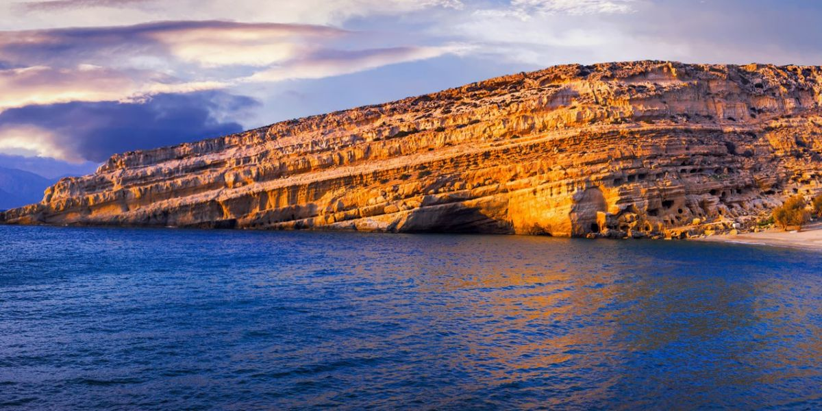 Exploring the Hippie caves of Matala