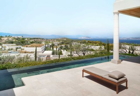 Deluxe Pool Pavilion with Premium View at Amanzoe Resort