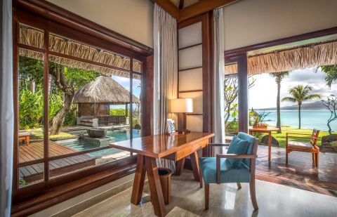 Beachfront Suite Pool Villa at Shanti Maurice Resort