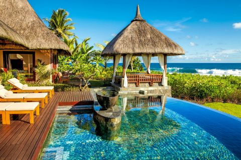 Luxury Double Pool Villa at Shanti Maurice Resort